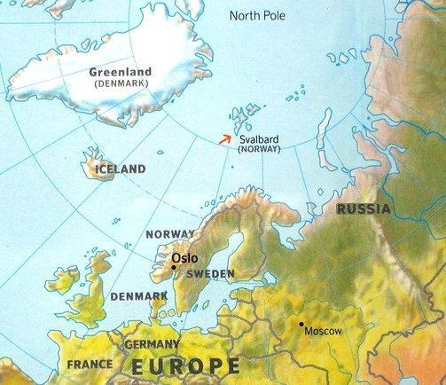 Norwegian Arctic Map
