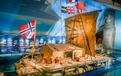 The original Kon Tiki raft Jett Britnell